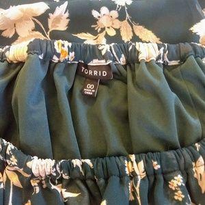 Torrid  floral ruffle dress sz 00